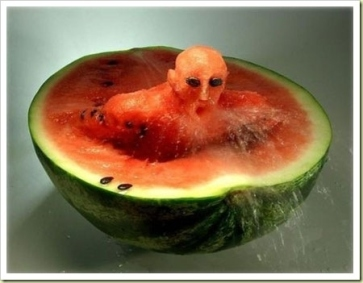 man in watermelon