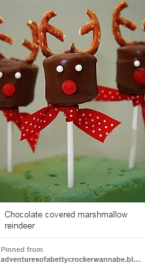 Chocolate-covered reindeer