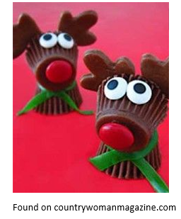 Peanutbutter reindeer